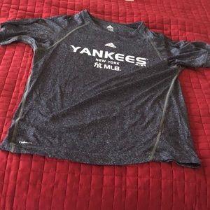 Navy Blue Dri fit Yankees Baseball Adidas shirt